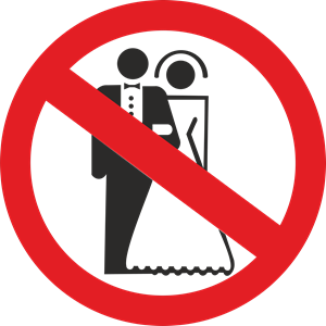 no marriage Logo Vector