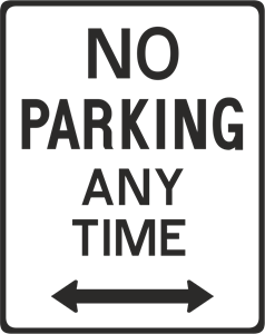 NO PARKING ANY TIME SIGN 3 Logo Vector