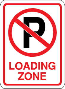 NO PARKING LOADING ZONE SIGN Logo Vector