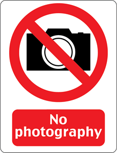 NO PHOTOGRAPHY SIGN Logo Vector