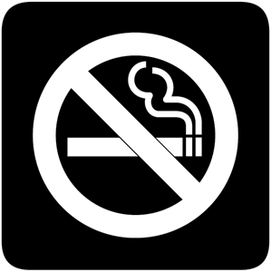 NO SMOKING BLACK AND WHITE Logo Vector