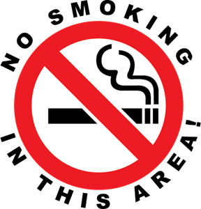 No Smoking In This Area! Logo Vector
