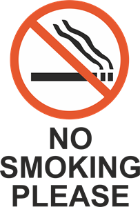 NO SMOKING PLEASE SIGN Logo Vector
