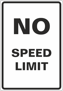 No speed limit Logo Vector