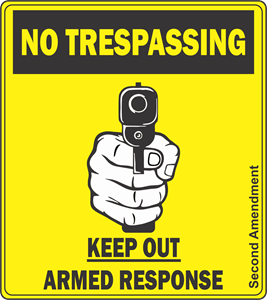 No Trespassing Logo Vector