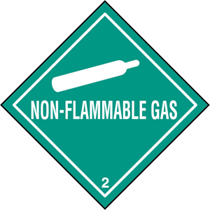 NON-FLAMMABLE GAS Logo Vector