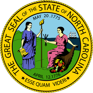North Carolina State Seal Logo Vector