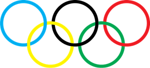 Olympic Flag Logo Vector