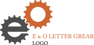O E Letter Gear Factory Logo Vector