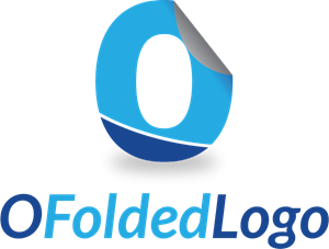 O Folded Logo Vector