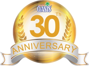 Oasis 30th Logo Vector