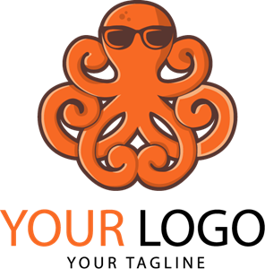 Octopus health and fitness mascot Logo Vector
