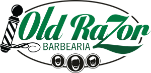 Old Razor Barbearia Logo Vector