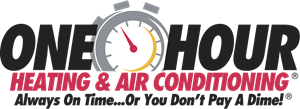 One Hour Heating and Air Conditioning Logo Vector