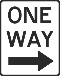 ONE WAY STREET ROAD SIGN Logo Vector