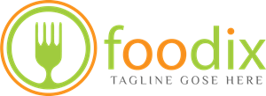Online Food Business Logo Vector