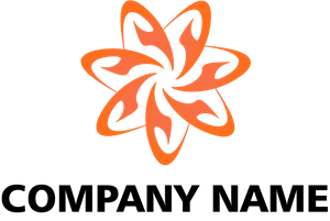 Orange Abstract Company Logo Vector
