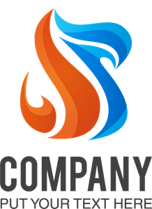 Orange and blue Logo Vector