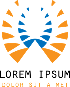 Orange Blue Abstract Shape Logo Vector