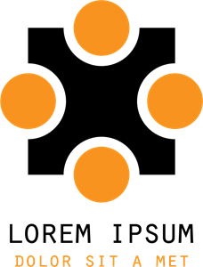 Orange Dots Shape Logo Vector