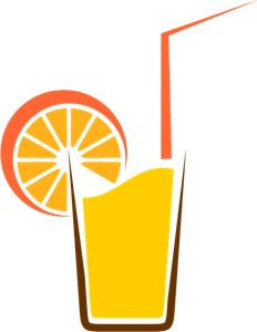 Orange Drinks Logo Vector