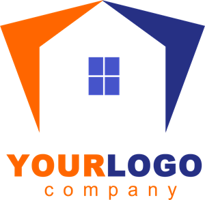 Orange House Logo Vector