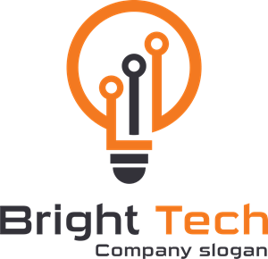 orange light bulb Logo Vector