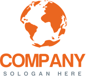 Orange World Company Logo Vector