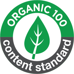 organic 100 content standard Logo Vector (.PDF) Free Download