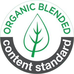 organic blended content standard Logo Vector