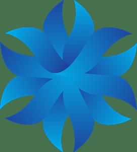 Origami Flower Logo Vector