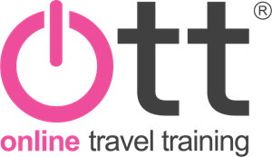 OTT Online Travel Training Logo Vector