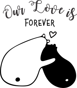 Our love is forever Logo Vector