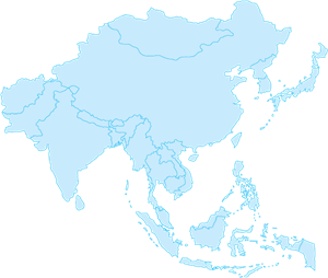 OUTLINE MAP OF ASIA Logo Vector