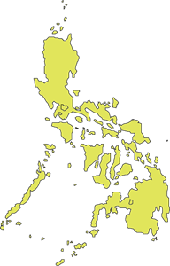 OUTLINE MAP OF PHILIPPINES Logo Vector