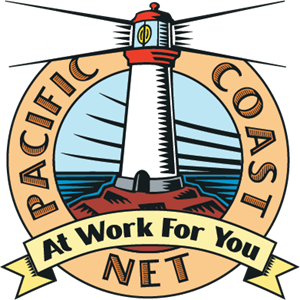Pacific Coast Net Logo Vector