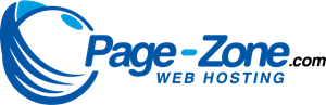 Page-Zone Web Hosting Logo Vector