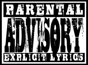 Parental Advisory explicit lyrics Logo Vector