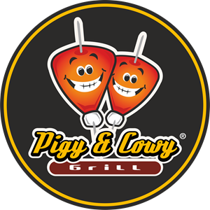 Pigy & Cowy Grill Logo Vector