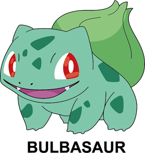 Pokemon - Bulbasaur Logo Vector