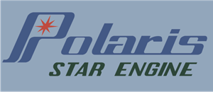 Polaris Star Engine Logo Vector