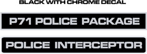 Police Interceptor Decals Logo Vector