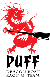 Puff Dragon Boat Racing Team Logo Vector