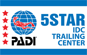 PADI 5 Stars IDC TRAINING CENTER Logo Vector