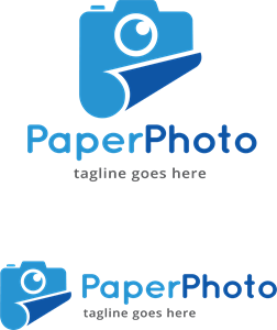 Paper Photo Logo Vector