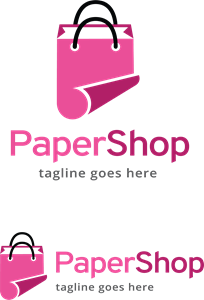 Paper Shop Logo Vector