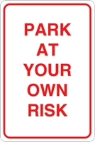 Park at your own risk Logo Vector