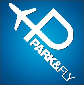 Park & Fly Logo Vector