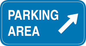 PARKING AREA HIGHWAY SIGN Logo Vector