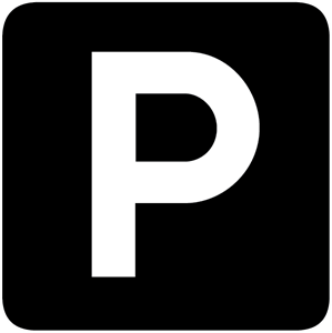 PARKING BLACK WHITE SIGN Logo Vector